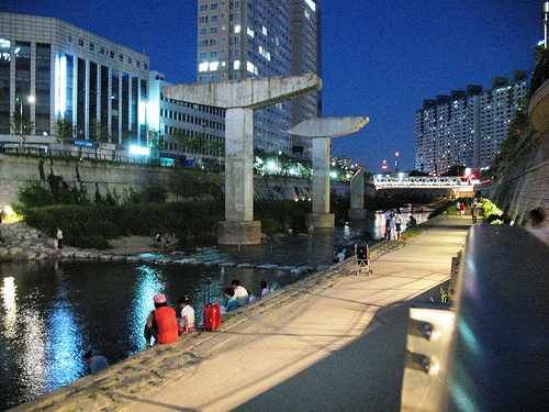 Seoul, Korea's leftover concrete columns