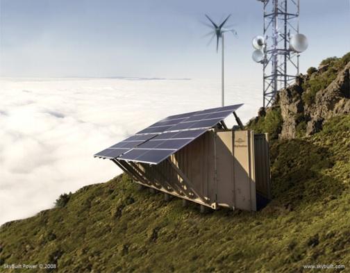 solar powered wind turbine