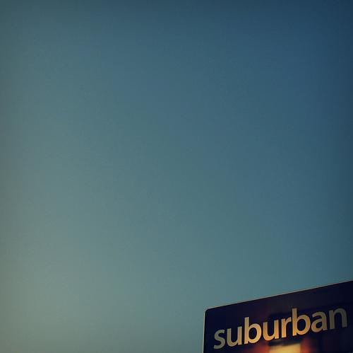 Suburban sign