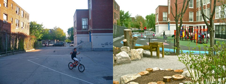 Boston school before and after