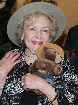 Betty with a teddy