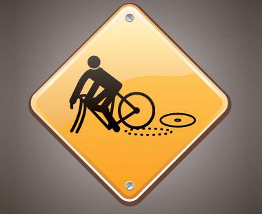 Broken bike image.