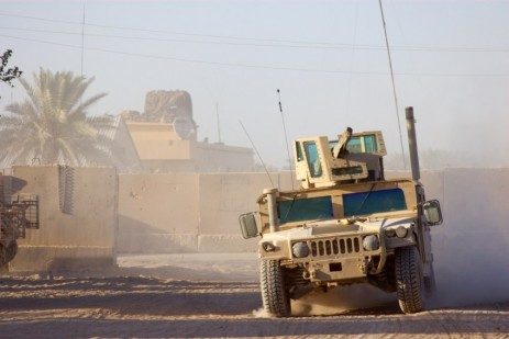A Humvee in Iraq.