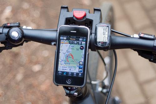iPhone bike mount