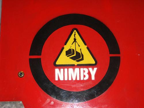 NIMBY sign.