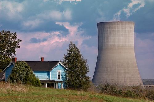 Nuclear near a house.