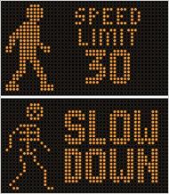 speeding sign