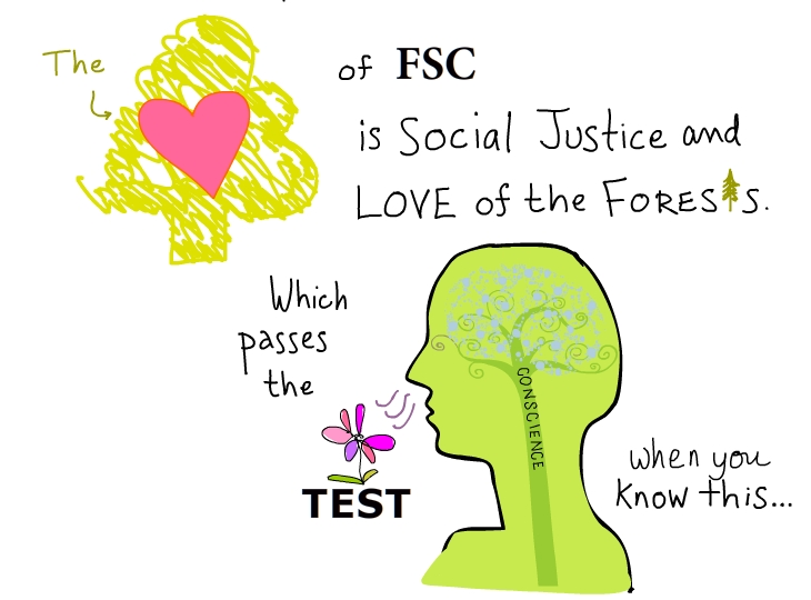 The heart of FSC is social justice and love of the forests. Which passes the smell test when you know this. I found.