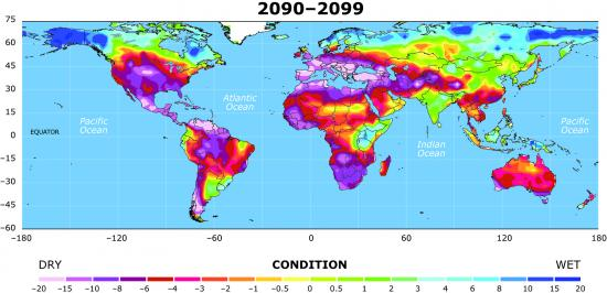 drought map 4 2090-2099