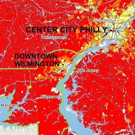 Philadelphia and Wilmington