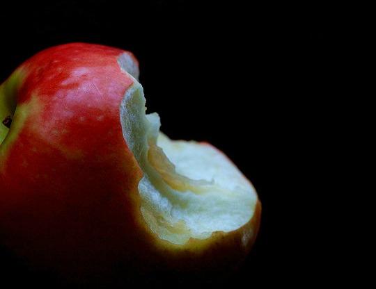 Bitten apple.