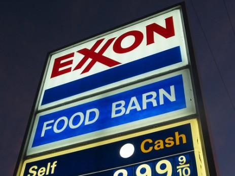 Exxon sign.