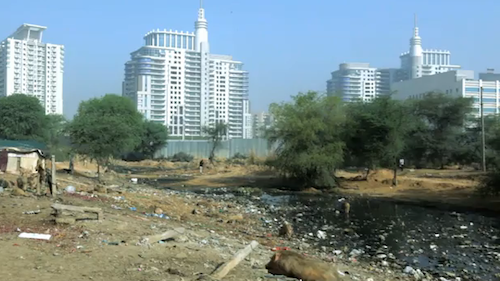 View of Gurgaon, India