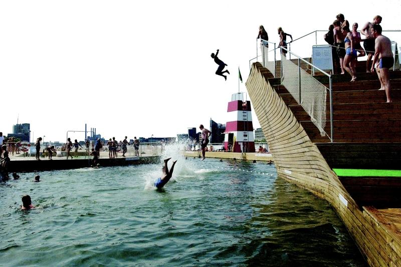 Copenhagen's harbor pool