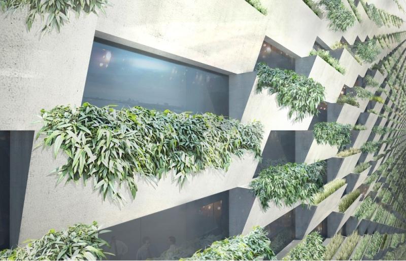 Amager Bakke waste-to-energy plant facade