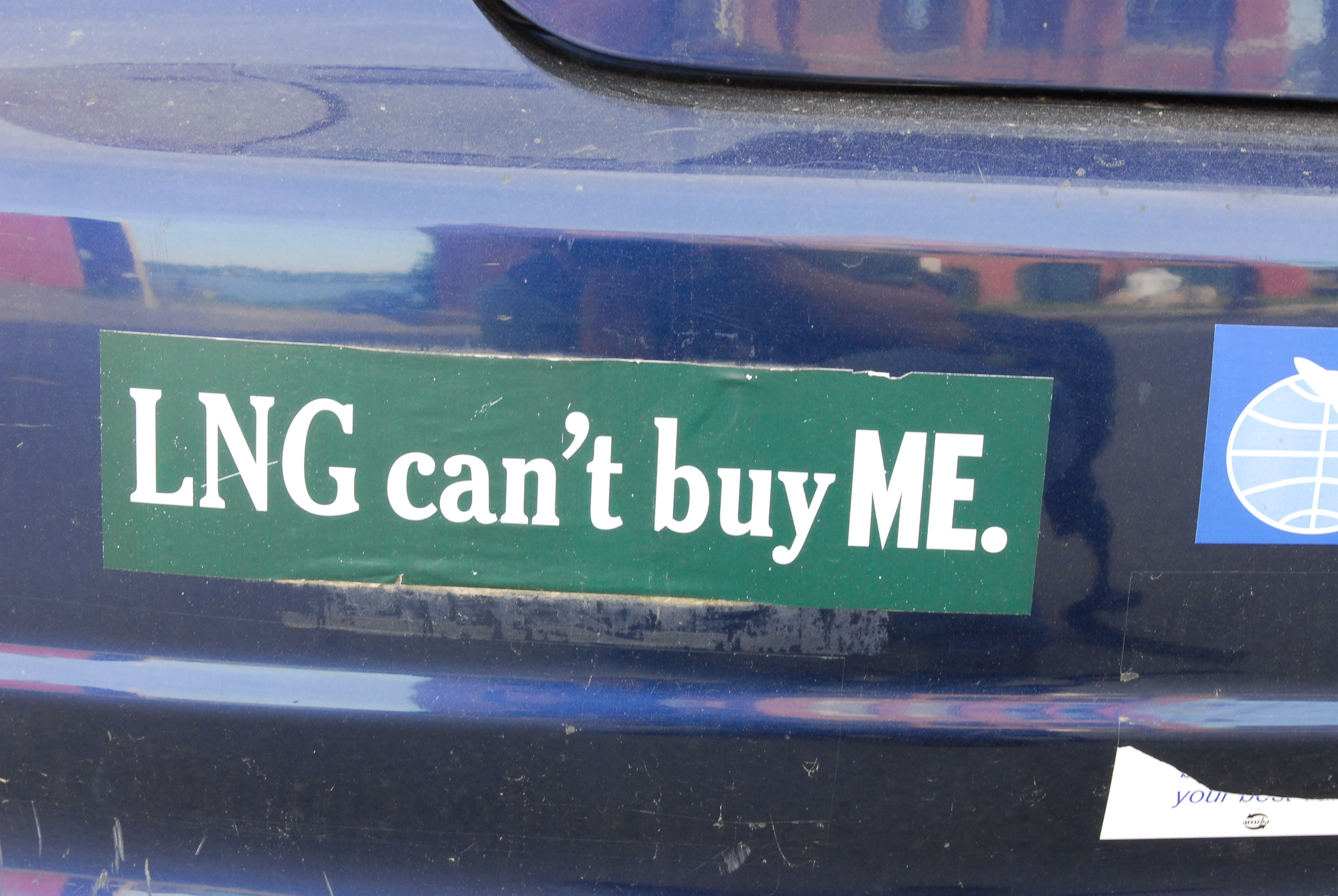 anti-lng bumper sticker