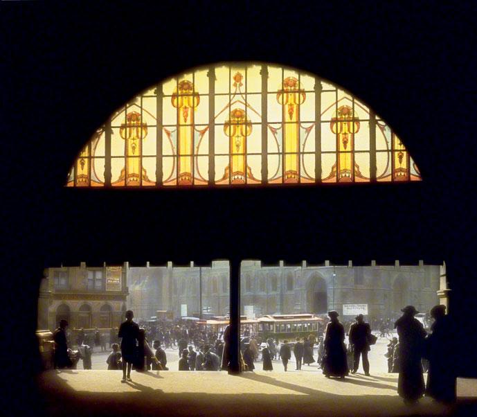 Melbourne, Flinders Street Station, 1917.