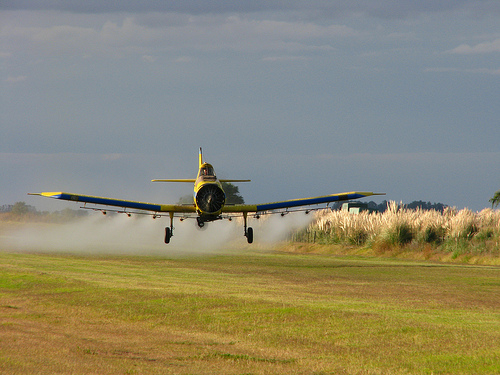 Pesticide plane.