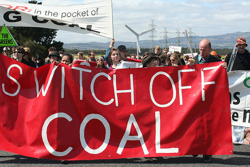 Coal protest.