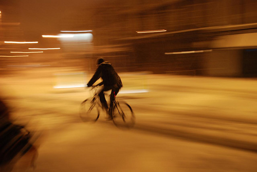 Snow biking.