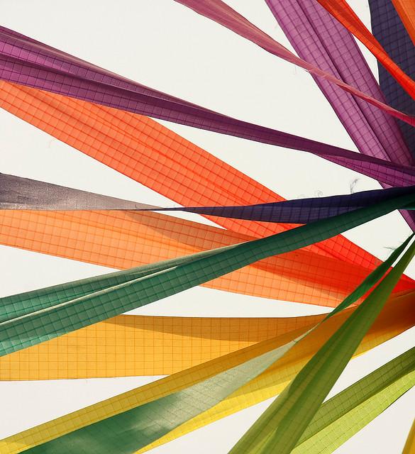 Bright ribbons.