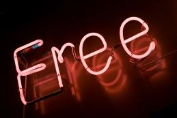 """free"" sign"