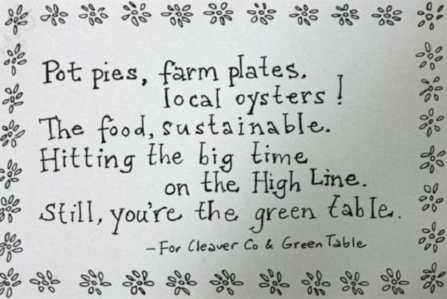 Ballad poem for Cleaver Co.