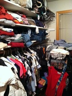 Jen's mom's closet