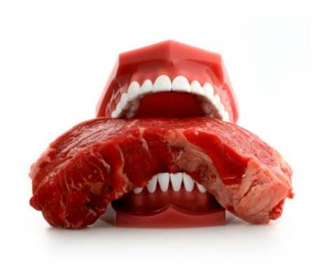 Meat mouth.