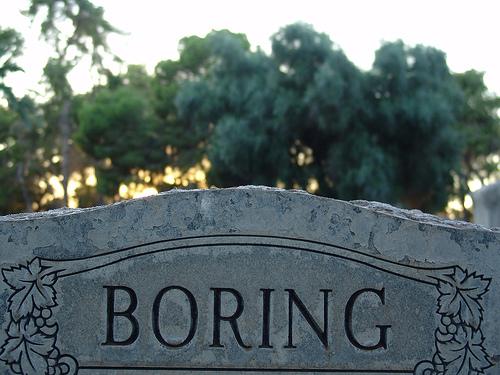 """""""boring"""" headstone"""