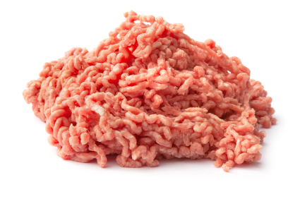 Ground meat.