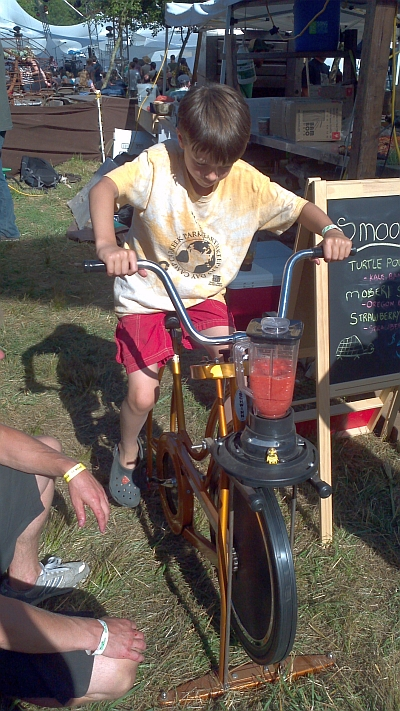 Smoothie bike!
