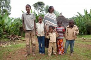 Aregash Ayele with five kids