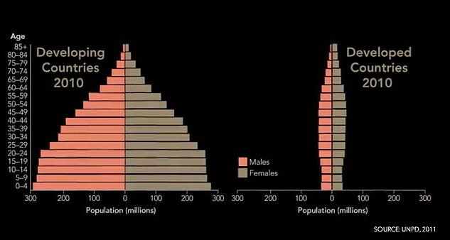 graphs: age structure diagrams