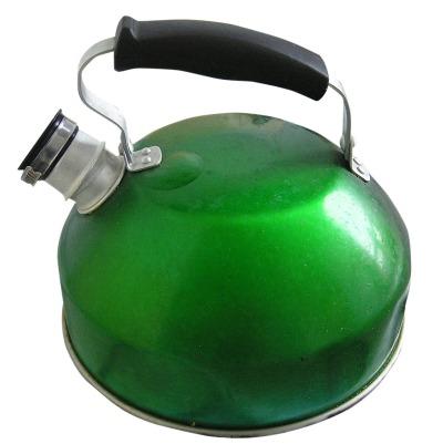 Green teapot.