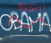 Obama / Bush graffiti