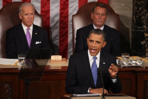 Obama giving speech
