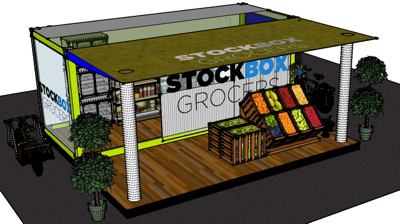 pop-up grocery