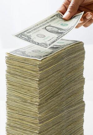 Pile of money.