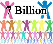 """7 billion"" series logo"
