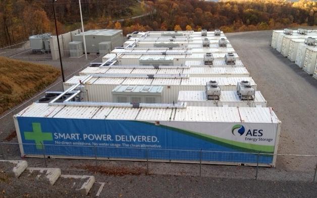 AES's lithium ion battery farm on Laurel Mt.