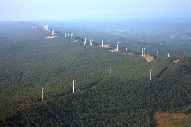 AES's Laurel Mt. Wind Farm