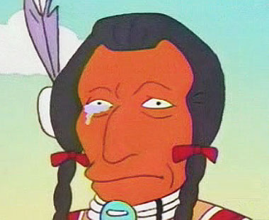simpsons crying indian