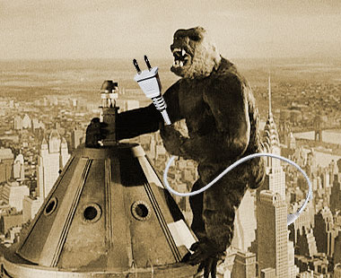 King Kong pulling the plug