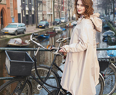 Woman with bike.