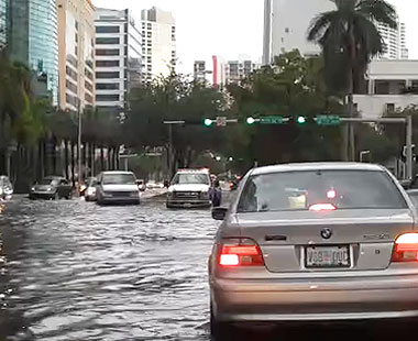 Flood in Miami.