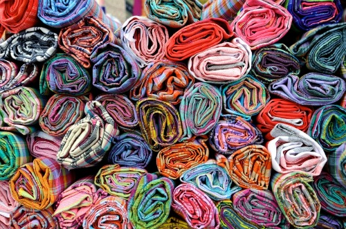 Colorful fabric.