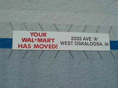 sign: Your Walmart has moved