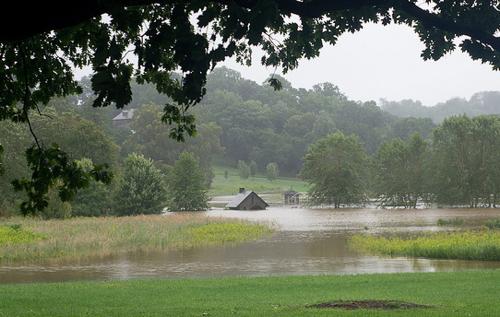 farm house flooded