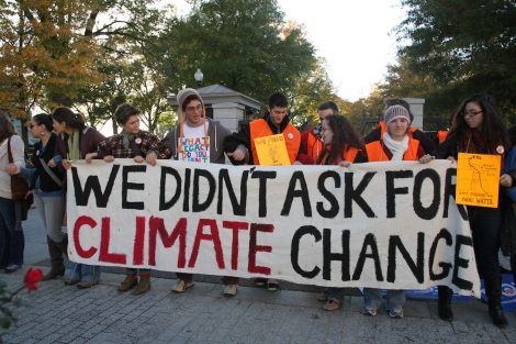 A 2011 Keystone XL protest at the White House